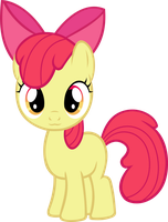 Apple Bloom charm with adorableness by RatchetHuN