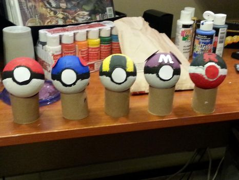 Home Made Pokeballs by Darkwing385