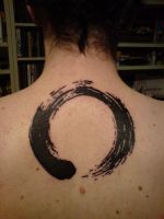 Enso circle tattoo by wunschpunsch