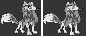 Animal Jam Base - Arctic Wolves by SilverNight108
