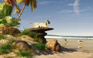 White Tiger Beach by deskridge