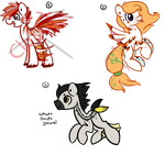 Aquatic Themed Ponies : Adoptables : OTA by ThePotato-Queen