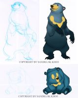 Bear Sketches 02 by Sandora