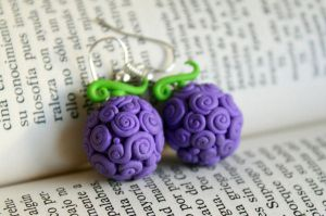 Devil Fruit Earrings by Nabila1790