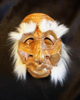 Old Man Mask with Lambchops by Faust-and-Company