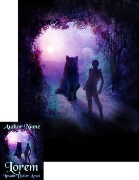 Gate to Wolf Country Premade Book Cover by Viergacht