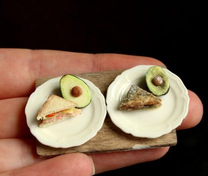 Decay in Miniature IV: Sandwich + Avocado by fairchildart