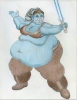 SSBBW Twi'lek Aayla Secura coloring complete by ENT2PRI9SE