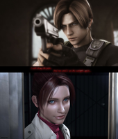 Leon and Claire 2 by AuraIan