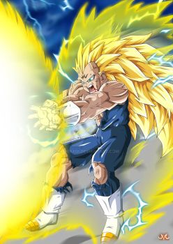 Majin Vegeta SSJ3's Final Flash by Maniaxoi
