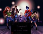 Professor X and his baby mutants by aureliebm