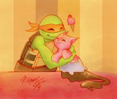 TMNT-A Friend for Mikey by dgLari