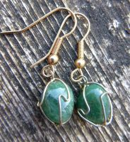 Aventurine earrings by Lost-in-the-day