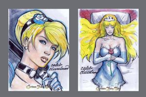 Grimm Fairy Tales Sketch Cards by calebcleveland