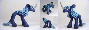 FOR SALE ~ Dark Blue Unicorn Sculpture by LiHy