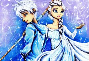 Jack and Elsa by ArcaninePup