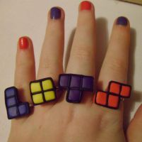 Tetris Rings by delicioustrifle