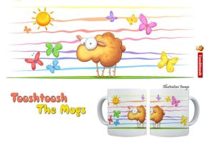 Wallo the sheep mug by Tooshtoosh
