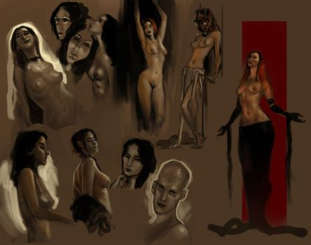 Life drawing page. by ARTofANT