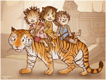 Uncle Dharjo And Three Little Nieces by Isriana