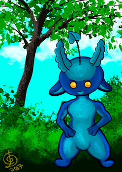 Quest 5 Denbeast Blueberry All Grown Up by watarigarasu