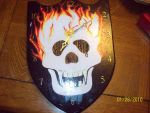 Skull Clock finished by romantic-knight