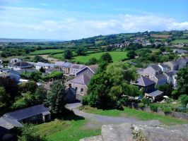 view from the Kidwelly Castle tower2 by Rashirou