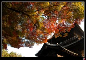 Temple in the Fall by tensai-riot