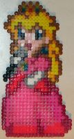 Super Princess Peach - Perlers by MandyNeko