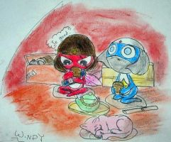 Giroro and Dororo in pastels by Windymon