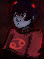 Depressed Karkat in 10 by ManiacTenshi
