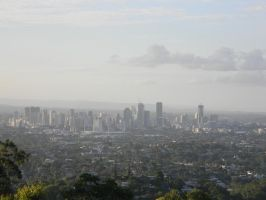 Brisbane from Mt Gravatt by Zomit