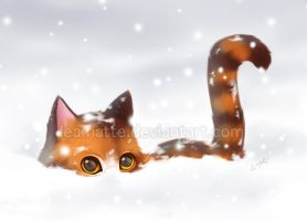 Fluffy snow by leamatte