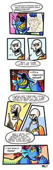 (DUB ADDED) An art day with Undyne and Papyrus 3/4 by JimPAVLICA
