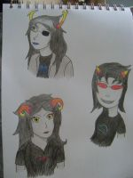 Vriska, Terezi, and Aradia by Sylrind
