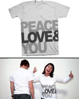 Peace Love You t-shirt by itsyouforme