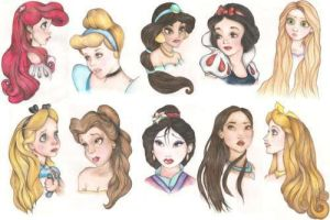 More disney princesses by bookfin416