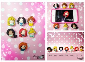 Disney Princesses Super Kawaii Dust Plug by SentimentalDolliez