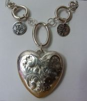 Steampunk Heart Necklace by ladysilver2267