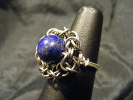 lapis byz ring by BacktoEarthCreations