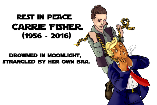 RIP Carrie Fisher by BasiliskOnline