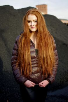 Irish lass and a coal mound by Pippa-pppx