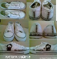 My Chemical Romance SHOES by Crmson-Snow