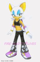 rouge the bat by fire-lady-9lives