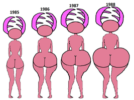 Candice Murphy's year progression and butt growth by ProtanaArchives94