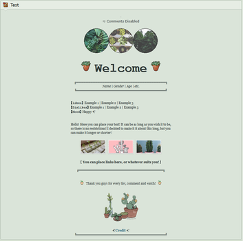 f2u Page Code 1 - Tiny garden by Sailor-HTML