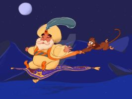 Disney's Sultan takes a ride by Fighter4luv
