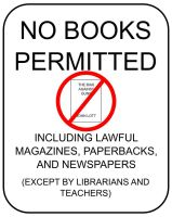 Hostile Anti Book Sign by SudsySutherland