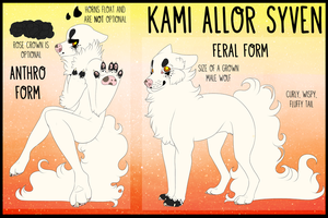 Kami Allor Syven Ref (Current Fursona) by Boybites