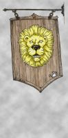 Lion and mouse pub signage II by tptrsn